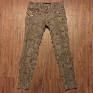 Zara Basic Women Pants Size 4 Snake Gold Zipper